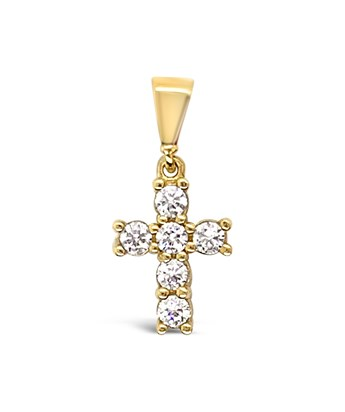 SPARKLY CROSS privjesak zlato